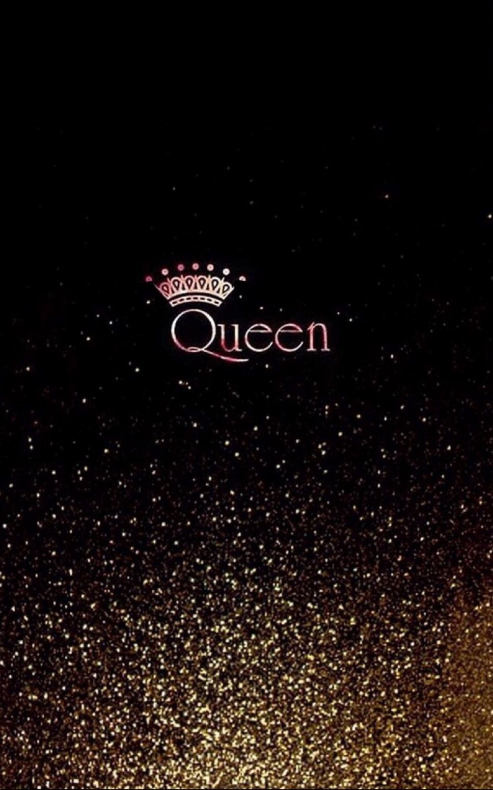 Queen With Glitter Wallpaper Queens Wallpaper Black Wallpaper