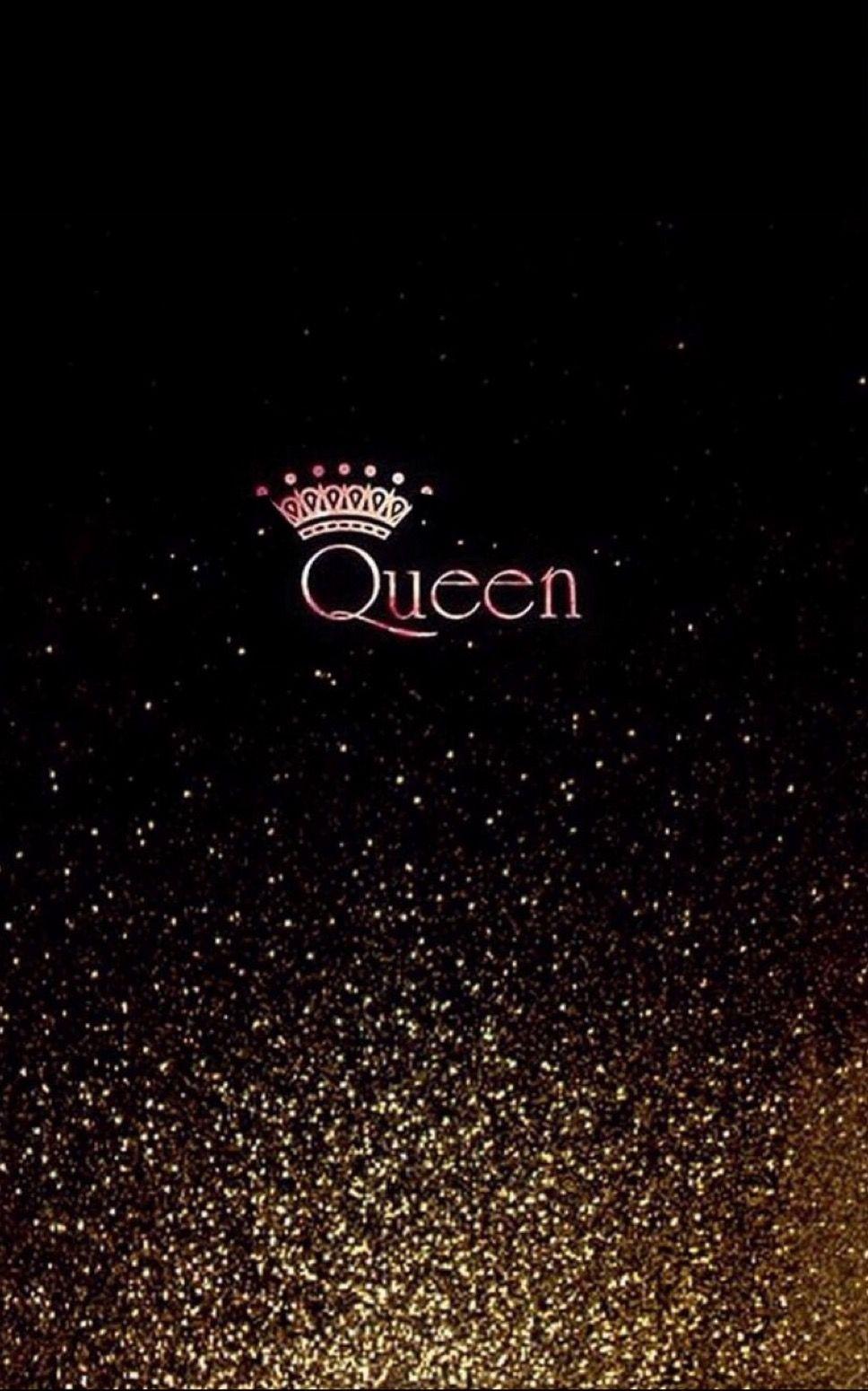 Queen With Glitter Wallpaper Queens Wallpaper Black Wallpaper Iphone Glitter Wallpaper