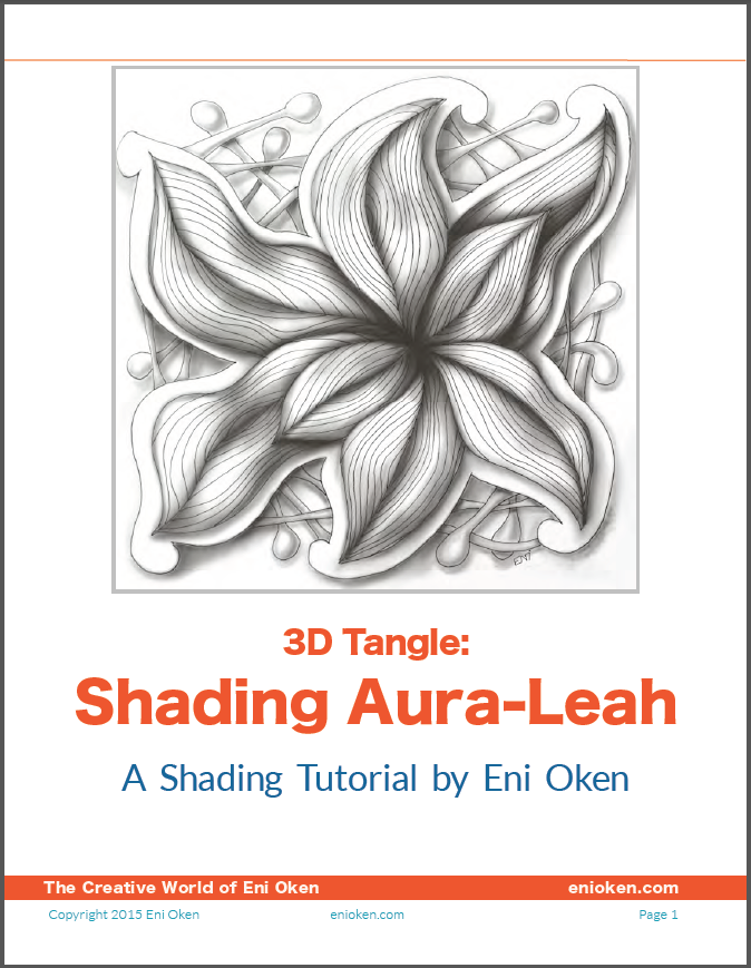 Shading Aura Leah, 3D tangle tutorial