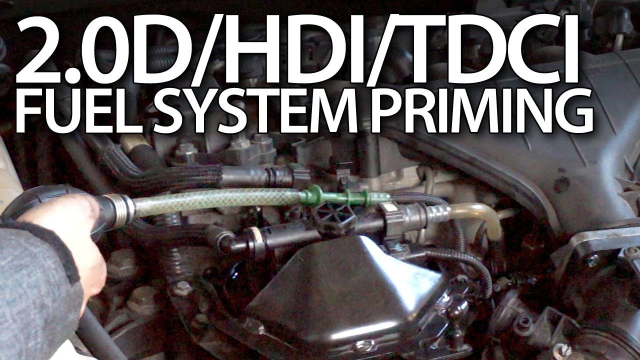 hight resolution of how to prime fuel system in volvo 2 0d ford 2 0tdci