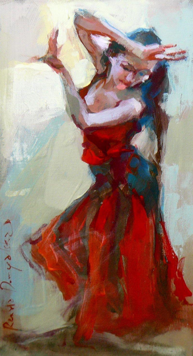 Renata Domagalska Renata Domagalska Tancerka Obrazy Malarstwo Wspolczesne Painting Dance Paintings Art