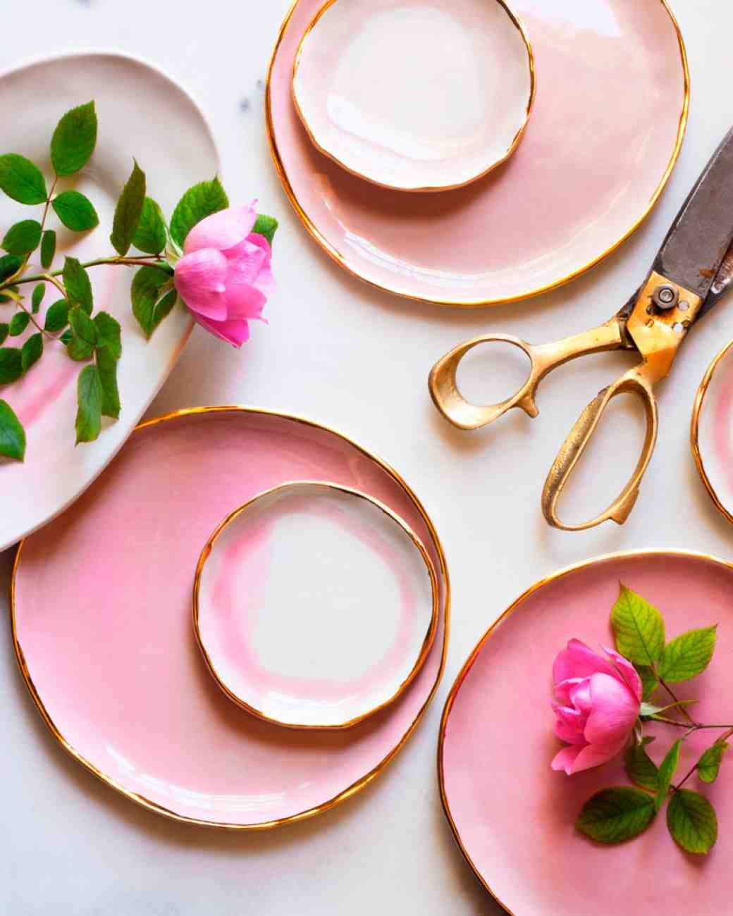 Beyond the Mason Jar: 8 Wedding Trends You Haven't Seen on Pinterest (Yet) | Martha Stewart Weddings -- Vases and dinnerware with organic texture and subtle imperfections are on our wishlists. You can collect pieces from up-and-coming ceramicists by scouring Etsy and Ebay. Or treat your maid of honor to a fun ceramics class (yes—they have classes with wine!) to create a few of your own. Looking for inspiration? We love everything by Suite One Ceramics, Helen Levi, and Clam Lab.