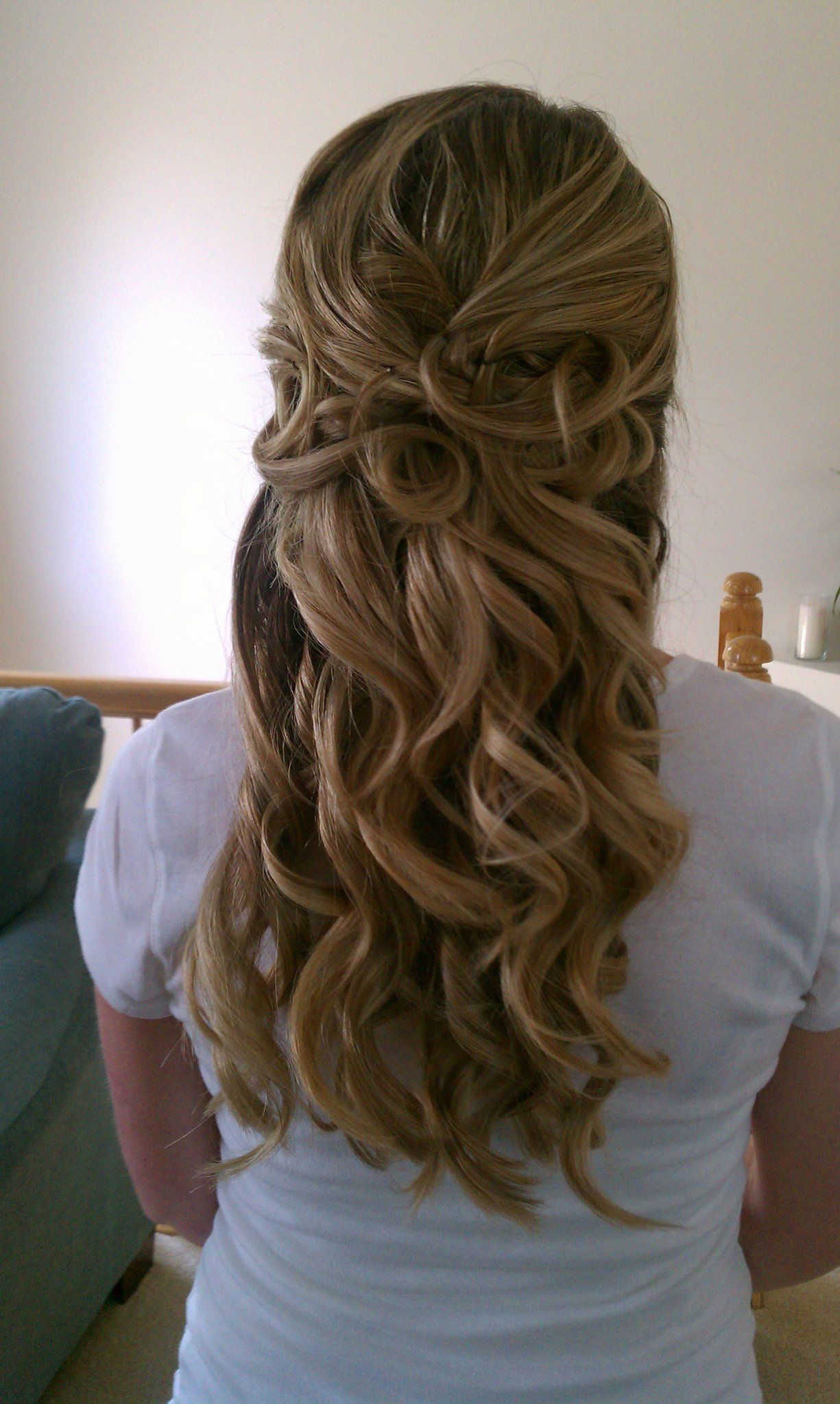 Wedding Hair Curly Half Up Wedding Pinterest Haare Hochzeit