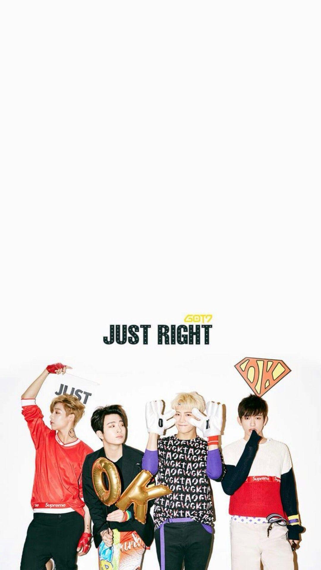 GOT7 Just Right Era Jackson X Jinyoung Youngjae Bambam Lock Screen Wallpaper