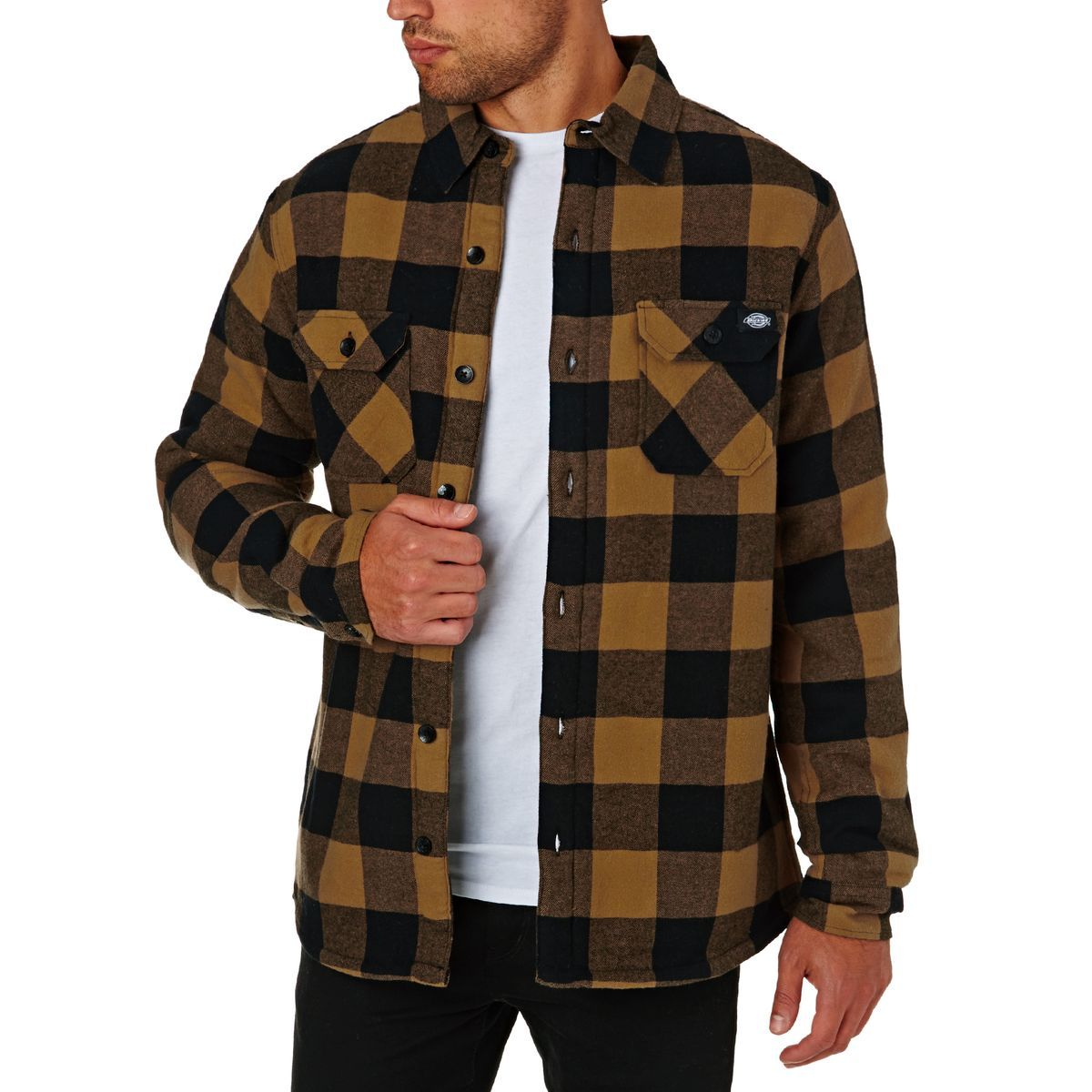 dickies lansdale shirt brown duck latest clothes for on dickies coveralls id=66218