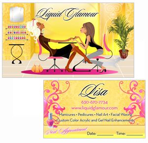Nail Salon Business Card | Salon business and Nail salons