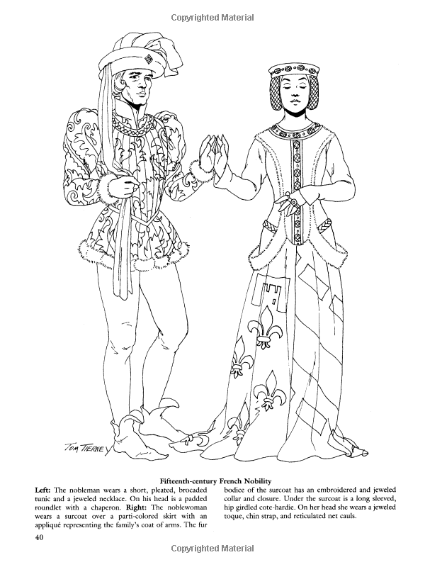 Medieval Fashions Coloring Book Dover Fashion Amazoncouk Tom Tierney 9780486401447 Books