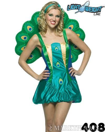 Grappige Carnavalskleding Dames.Budget Pauwen Jurkje Carnaval Thema Feest Kleding Dames