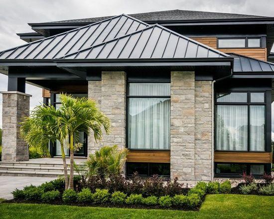 Modern House With Black Aluminium Windows And Doors