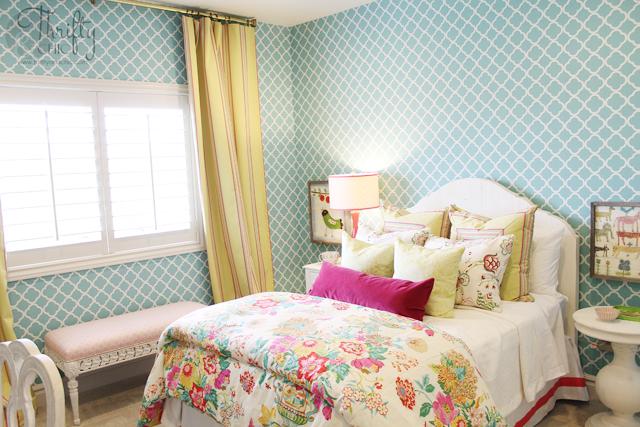 Aqua Yellow And Pink S Bedroom Ideas