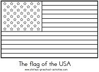 Week 2  usa flag coloring page american flag outline  Summer