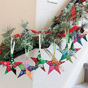 Twinkle, Twinkle: Fast Easy Patchwork Star Ornaments Designed by ... : quilting christmas ornaments - Adamdwight.com