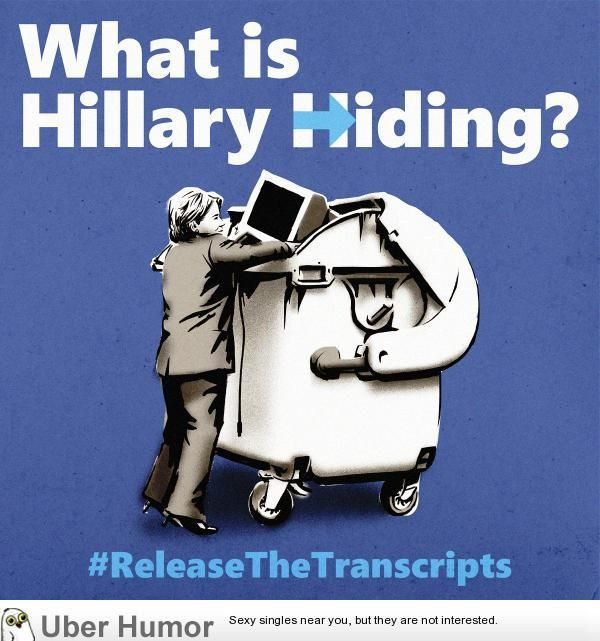 Hillary's transcripts might have the cure for cancer in there and she still won't release it #funny… http://ibeebz.com