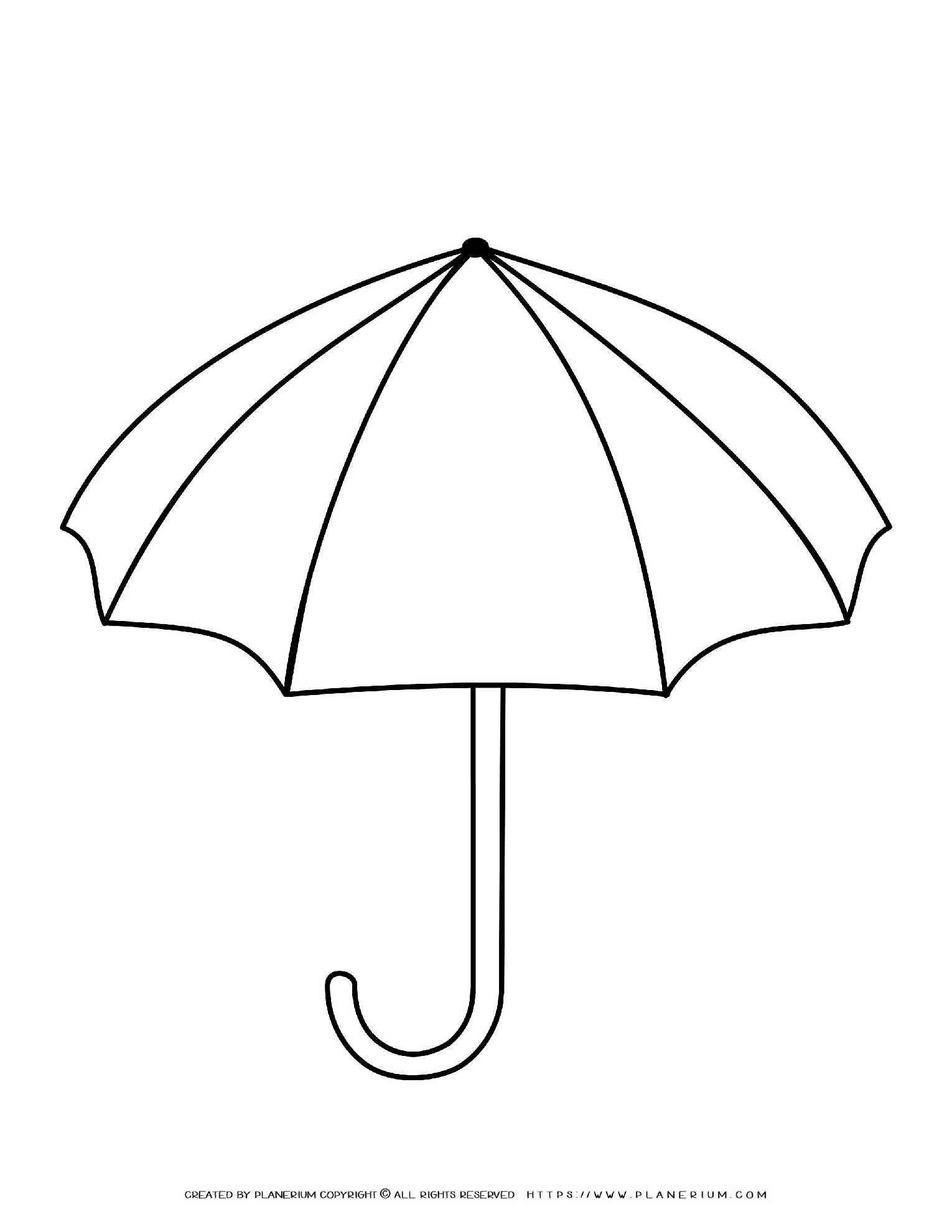 Fall Season Coloring Page Umbrella and Raindrops