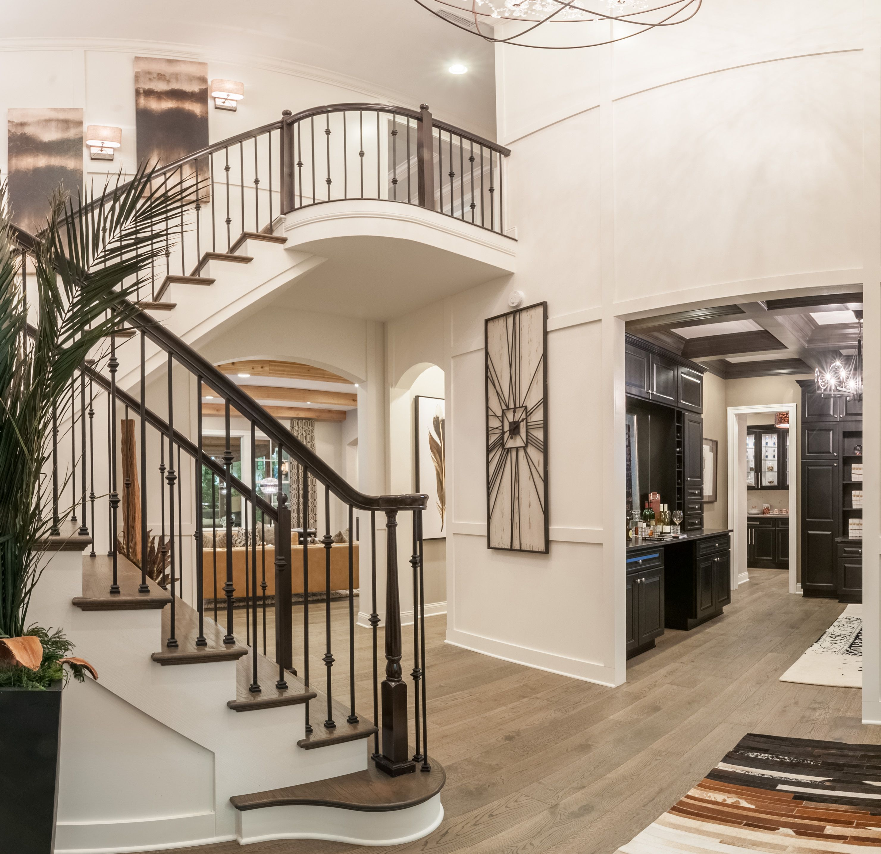 Home Foyer Balconies : Centerpiece home built by fischer homes at the