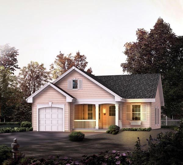 House Plan 86989 | Cabin   Cottage   Country   Ranch   Traditional    Plan with 888 Sq. Ft., 2 Bedrooms, 1 Bathrooms, 1