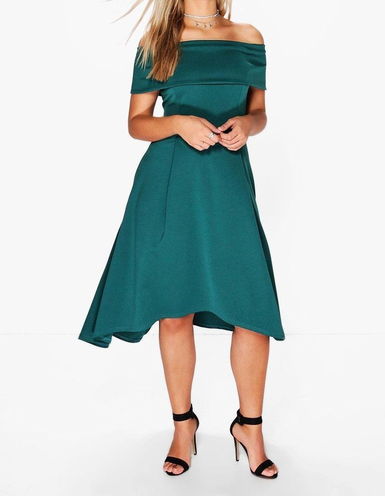 Nwt Us 20uk 24 Boohoo Plus Size Elizabeth Double Layer Midi Dress