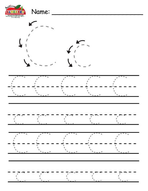 Free Worksheets » Letter C Tracing Pages - Free Printable ...