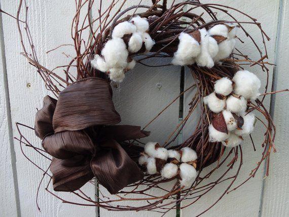 Photo of Birch Wreath  Cotton Wreath  Home Decor  Natural Wreath  Hostess Gift Home Decor  Wall Decoration  Twig Wreath  Birthday Gift