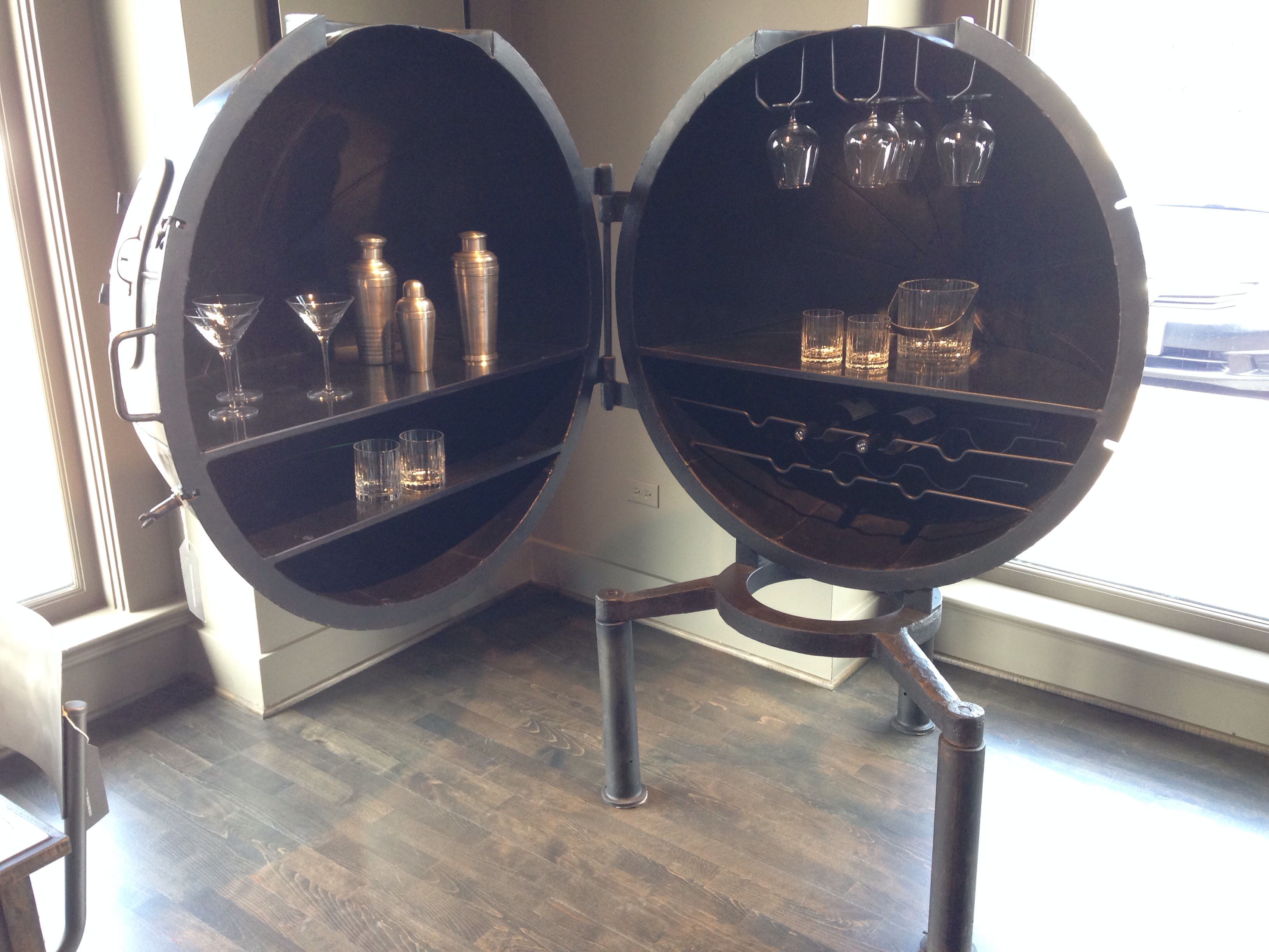 Beautiful Awesome Bar Set From Restoration Hardware! Setup In Our New Office?  Perhaps. #Infusevodka
