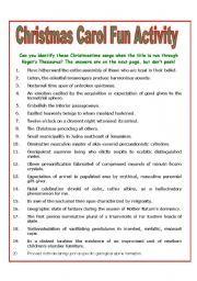 English worksheet christmas carol fun activity miss courtneys english worksheet christmas carol fun activity ibookread Read Online