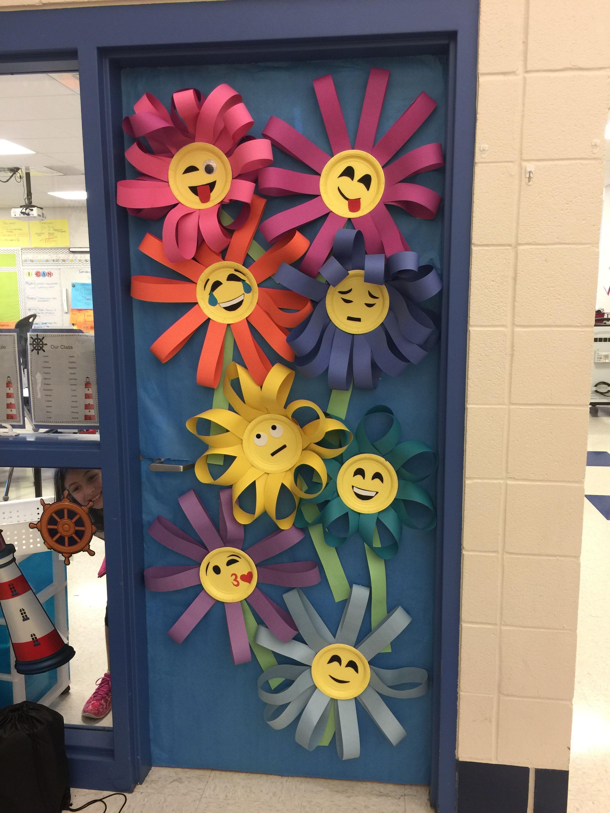 Spring Emoji Classroom Door School Door Decorations Spring