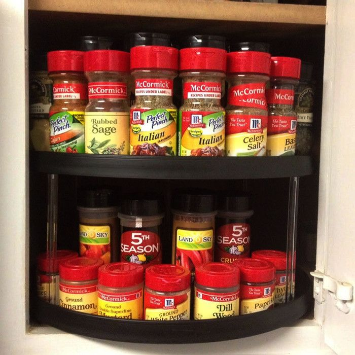 Lazy Susan Spice Rack Magnificent Stownspin Twotier Turntable Lazy Susan Spice Rack  Lazy Spin Decorating Inspiration
