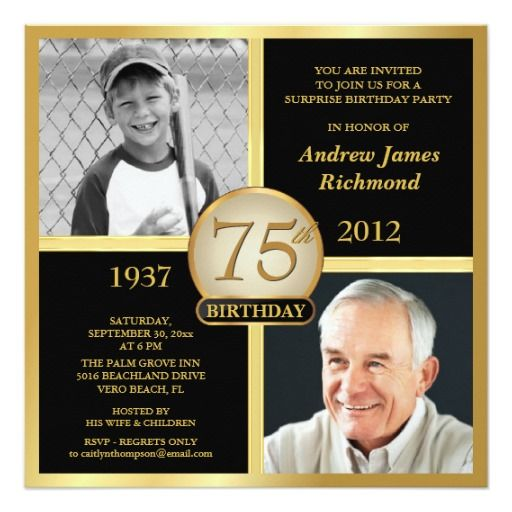 75th Birthday Invitations Then \ Now Photos 75th birthday - sample invitation wording for 60th birthday
