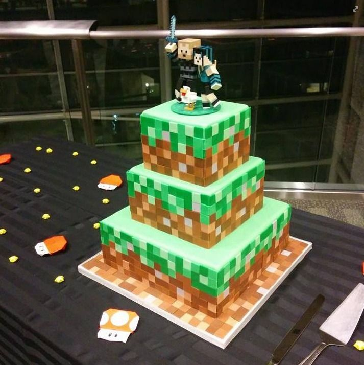Minecraft Wedding Cake Cake Bridal Wedding Topper Wedding Cake