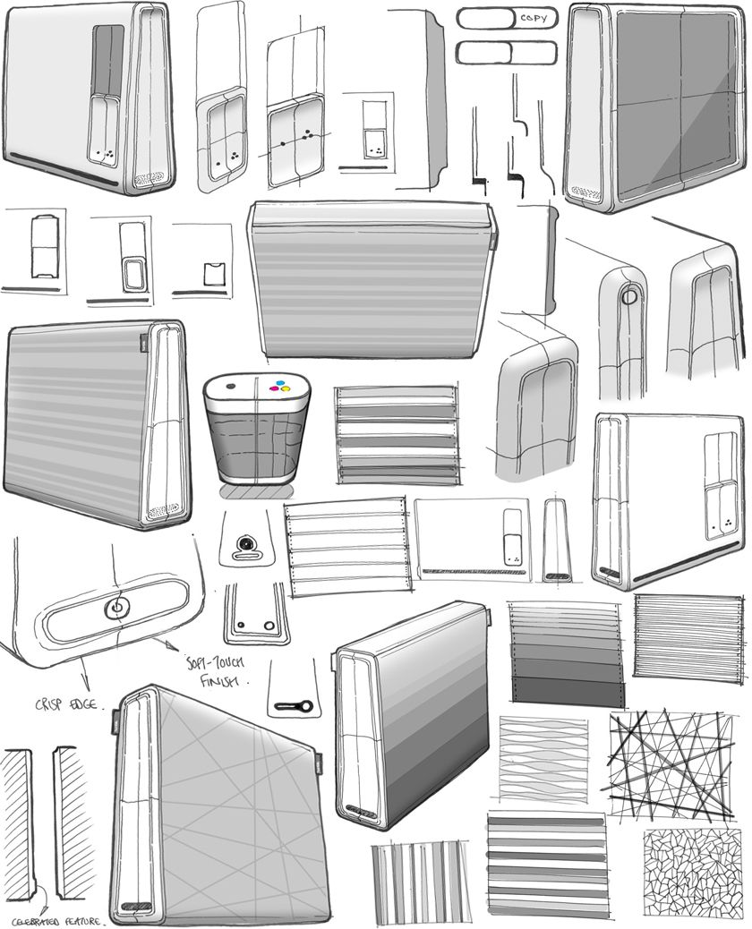 Industrial design sketches furniture - Pure Thinking Tom Peach Industrial Design Blog Humble Printer