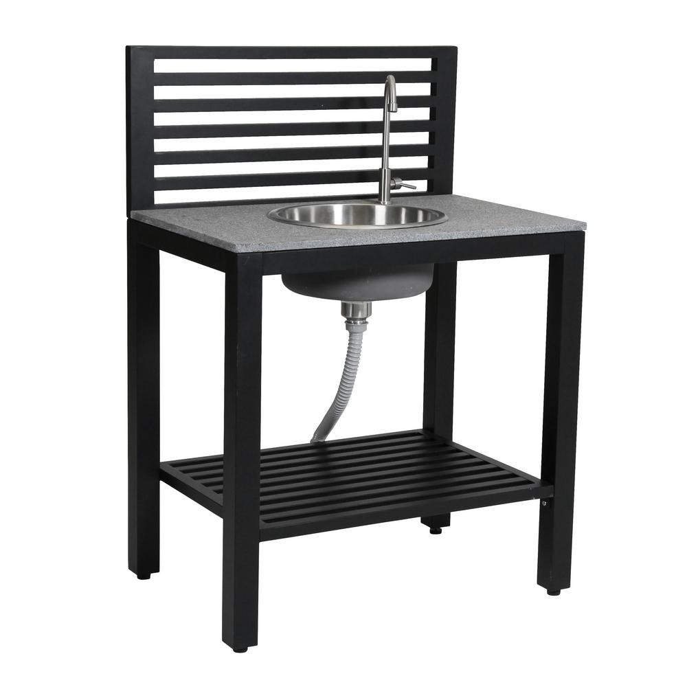 Rts Home Accents 35 5 In X 24 In X 50 In Outdoor Kitchen Sink 555400100b8000 The Home Depot Outdoor Kitchen Sink Outdoor Sinks Outdoor Kitchen