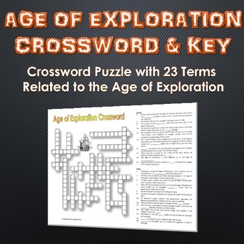 Age of Exploration - Crossword Puzzle and Key Terms and Clues!) - A 23 term and clue crossword puzzle related to the Age of Exploration.  sc 1 st  Pinterest & Age of Exploration - Crossword Puzzle and Key (23 Terms and Clues ... 25forcollege.com