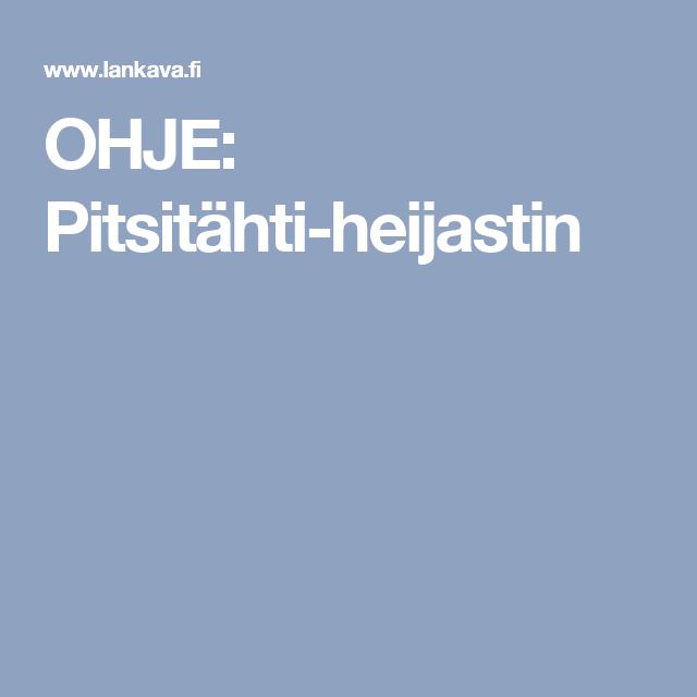 OHJE: Pitsitähti-heijastin