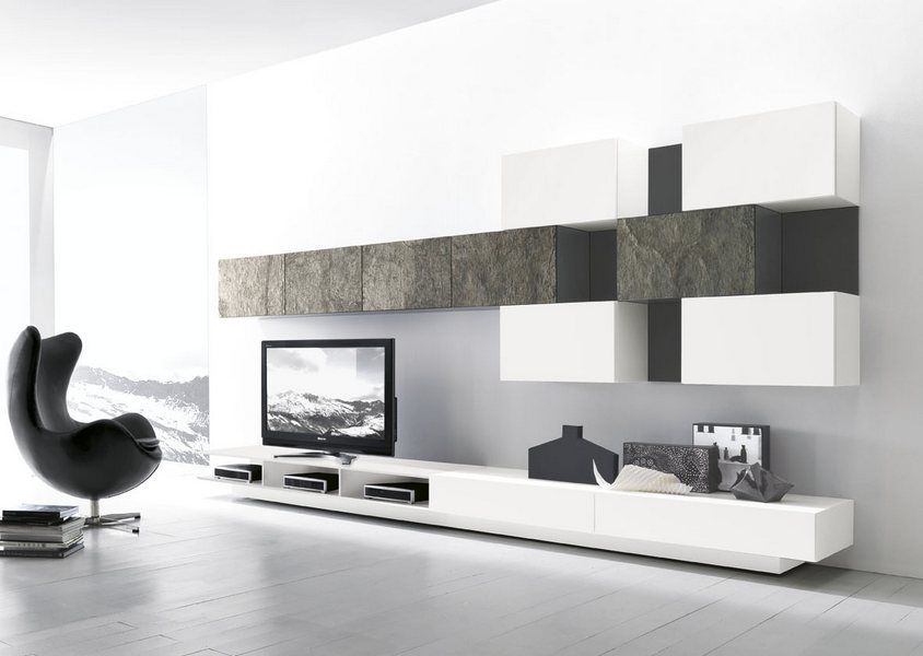 mobile da soggiorno modulart presotto con base con