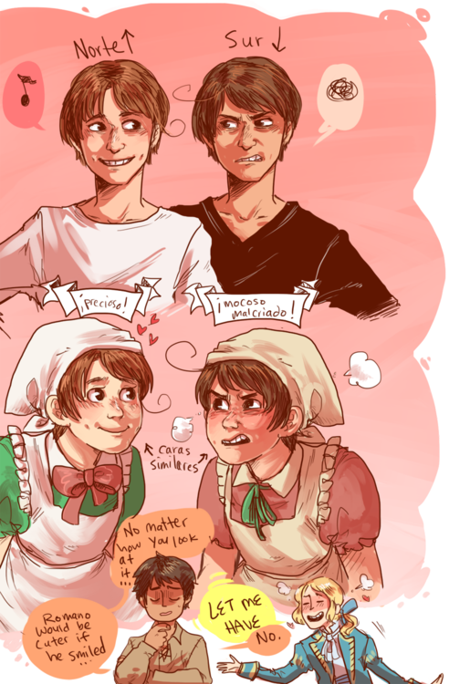 Northern And Southern Italy Brothers Yeah Feliciano Is Adorable And Hug Able But If Lovino Smiled My Heart Would N All Actuality Hetalia Italy Hetalia Chibi
