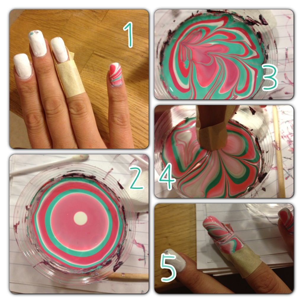 Marble Nails Tutorial | My Obsession! | Pinterest | Nail place ...