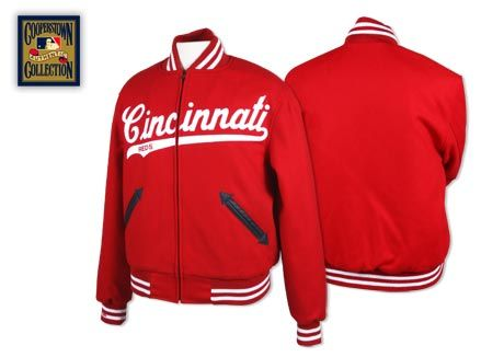 4b471e6e2a6 Cincinnati Reds 1963 Authentic Wool Jacket - Mitchell   Ness ...