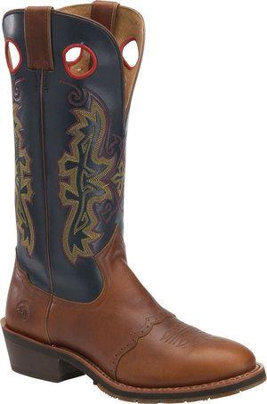 Men's Double H Boot 14 In Buckaroo - Whiskey/Brown