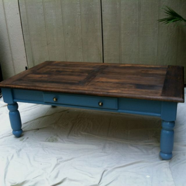 refurbished craigslist coffee table <3 | home remodel humor