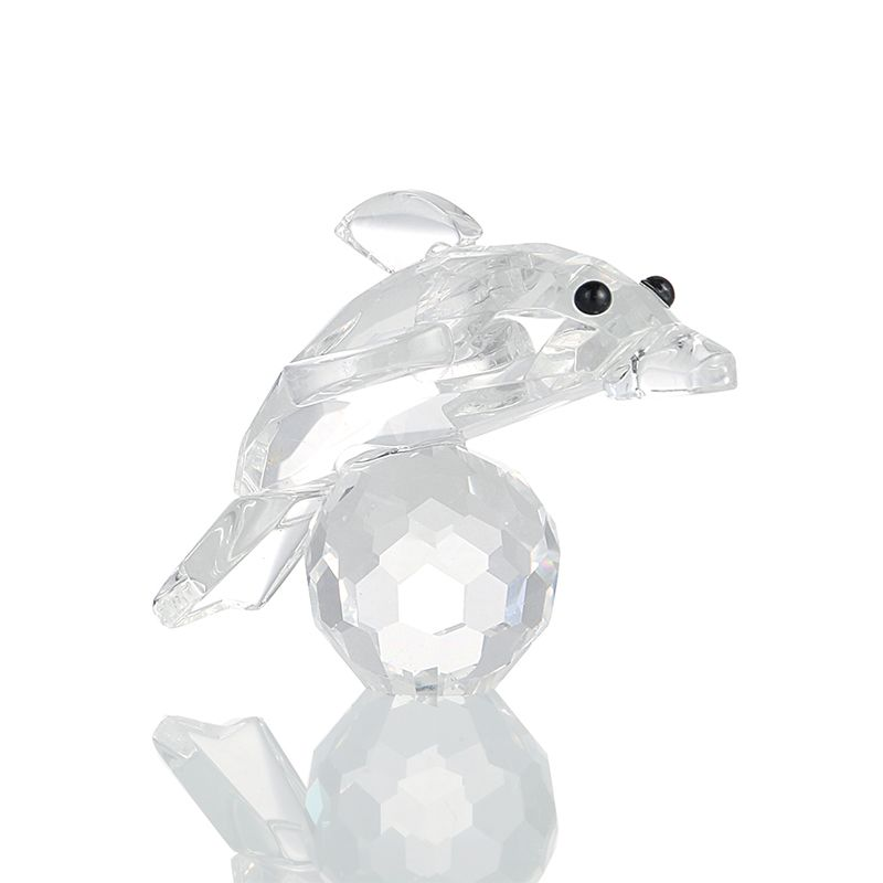 H/&D 3D Crystal Paperweight Facet Owl Figurines Glass Wedding Collectibles Gift