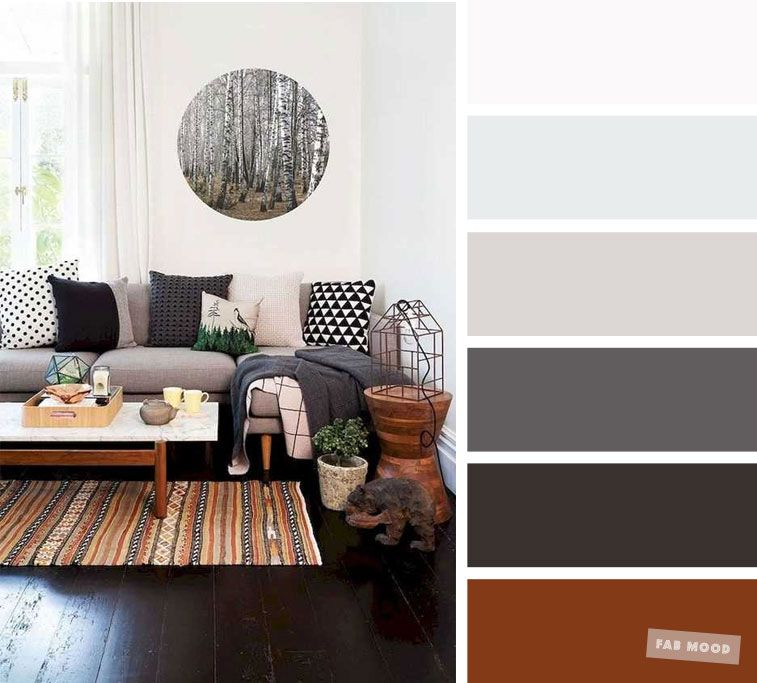 The Best Living Room Color Schemes Brown Charcoal Palette