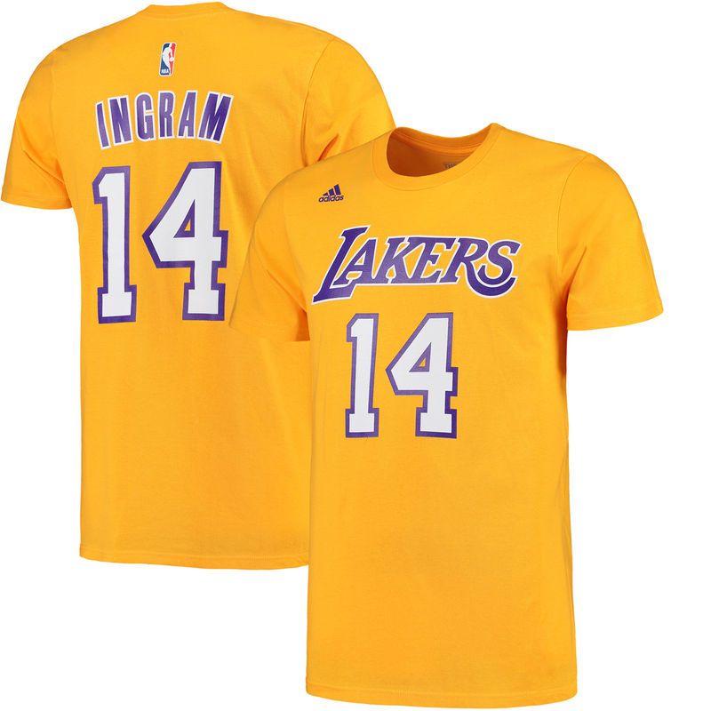 2e5092915 Brandon Ingram Los Angeles Lakers adidas Net Number T-Shirt - Gold ...
