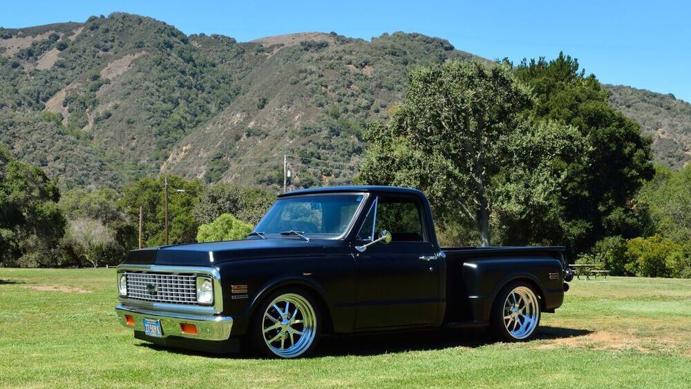 My 1971 C10 Stepside C10 Chevy Truck Chevy Trucks Lowered Classic Chevy Trucks