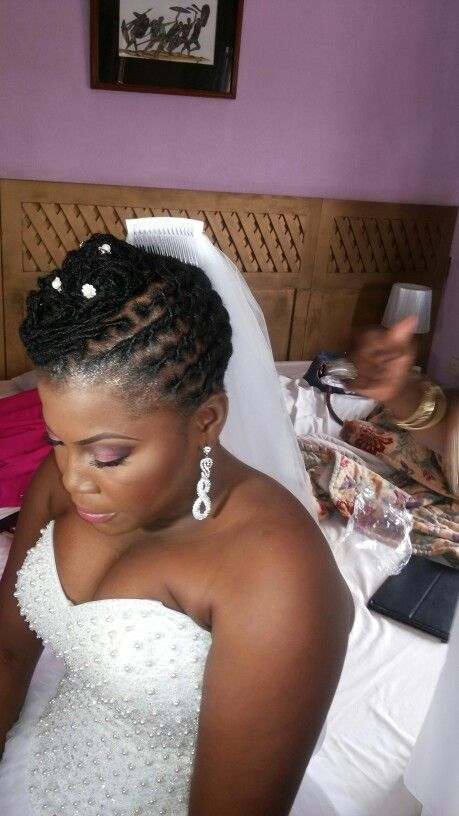 Loc Updos Braids And Twists For Wedding Season Dreadlock Wedding Hairstyles Faux Locs Hairstyles Summer Wedding Makeup