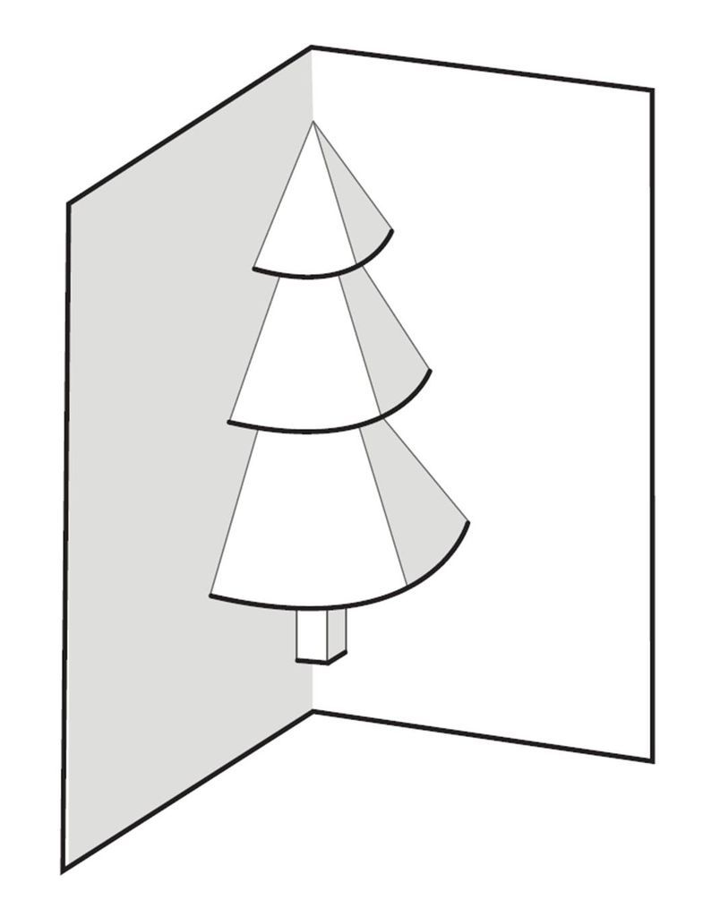 How To Make A Pop Up Christmas Tree Card Pop Up Christmas Cards Christmas Tree Cards Diy Christmas Cards Pop Up