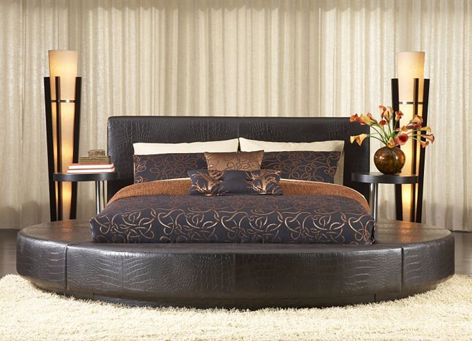 Redondo round bed | Havertys Furniture ...I love this look ...