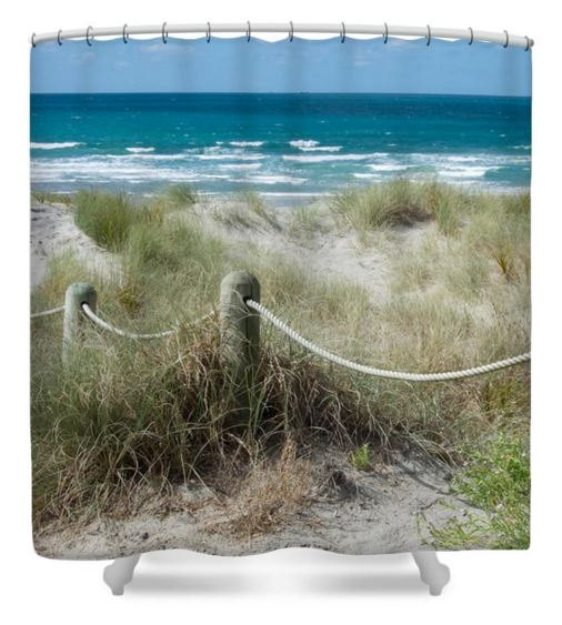 Beach Shower Curtain New Zealand Decor Beach Ropes Decor Nz