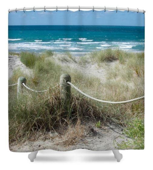 Beach Shower Curtain New Zealand Decor Beach Ropes Decor Nz