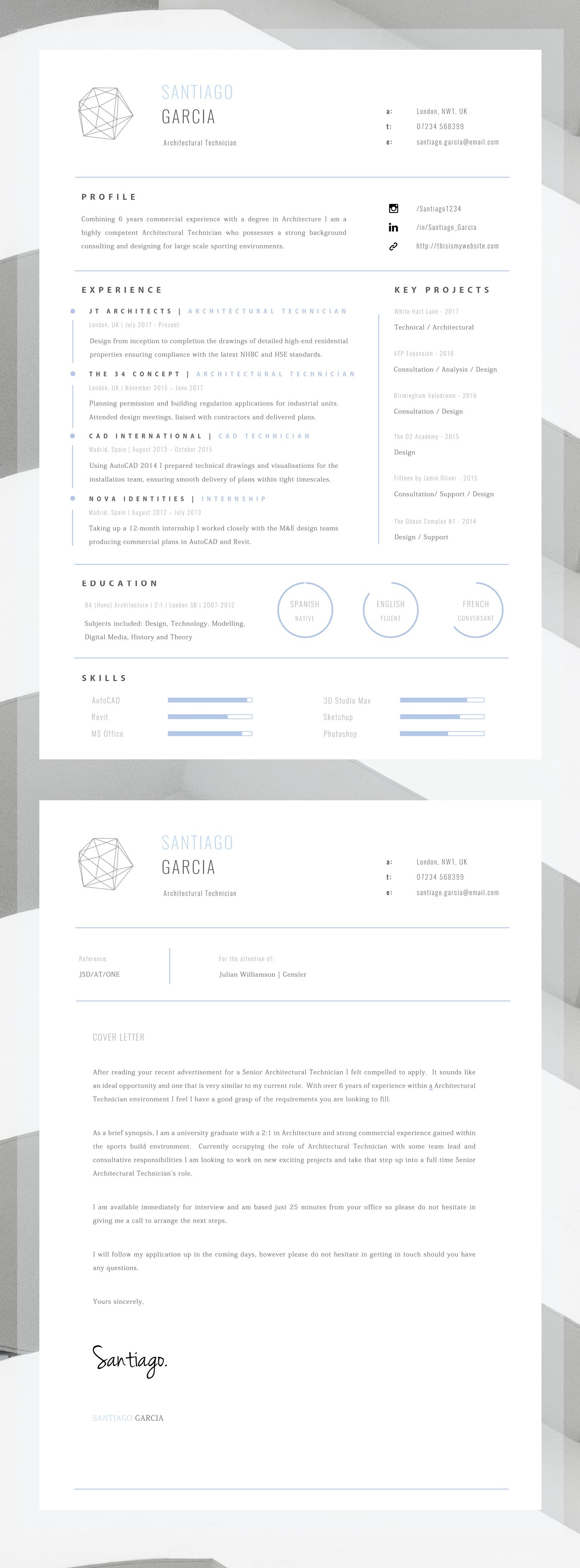 Professional Resume For Word + Cover Letter + Resume Advice