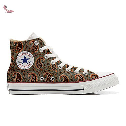 Make Your Shoes Converse Customized Adulte - chaussures coutume (produit artisanal) Tribal Texture size 33 EU mGr3CT